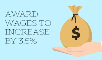 Award Wages to Increase by 3.5%
