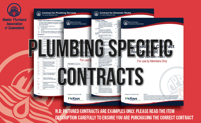 Work Contract - Subcontract for Plumbing or Associated Works